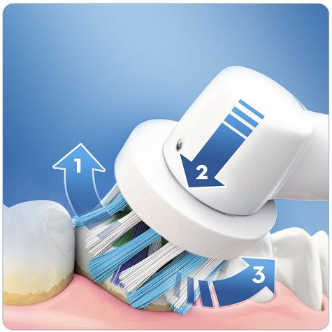 Oral-B Pro3 3000 Cross Action Electric Rechargeable Toothbrush | Pressure Control Thumbnail 3