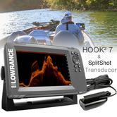 Lowrance HOOK2-7 Fishfinder/Chartplotter & SplitShot Transducer|000-14023-001