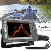 Lowrance HOOK2-7 Fishfinder/Chartplotter & TripleShot Transducer|000-14024-001