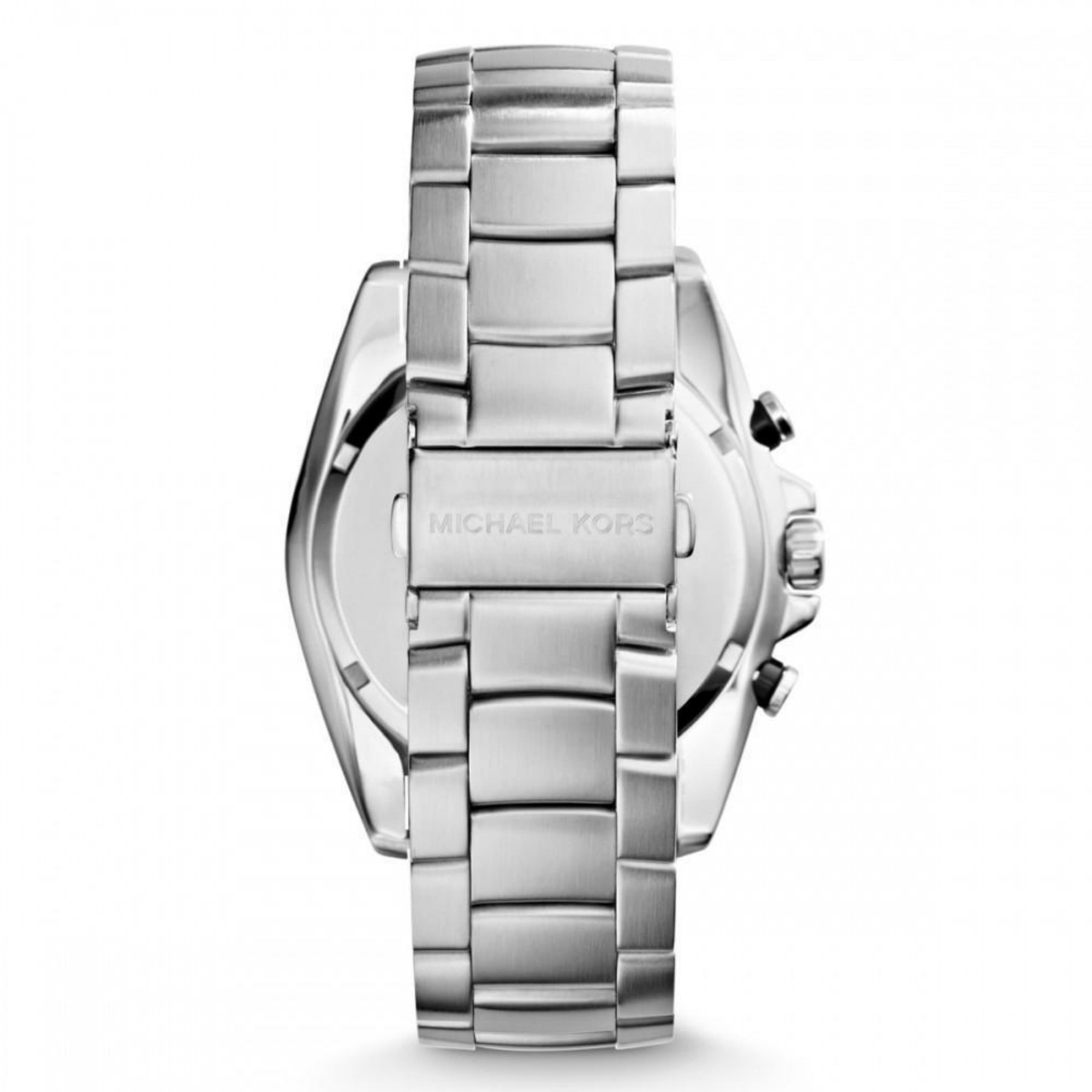 beade1cd636f Michael Kors Bradshaw Logo Dial Chronograph Designer Silver Men s Watch  MK8339 Thumbnail 4