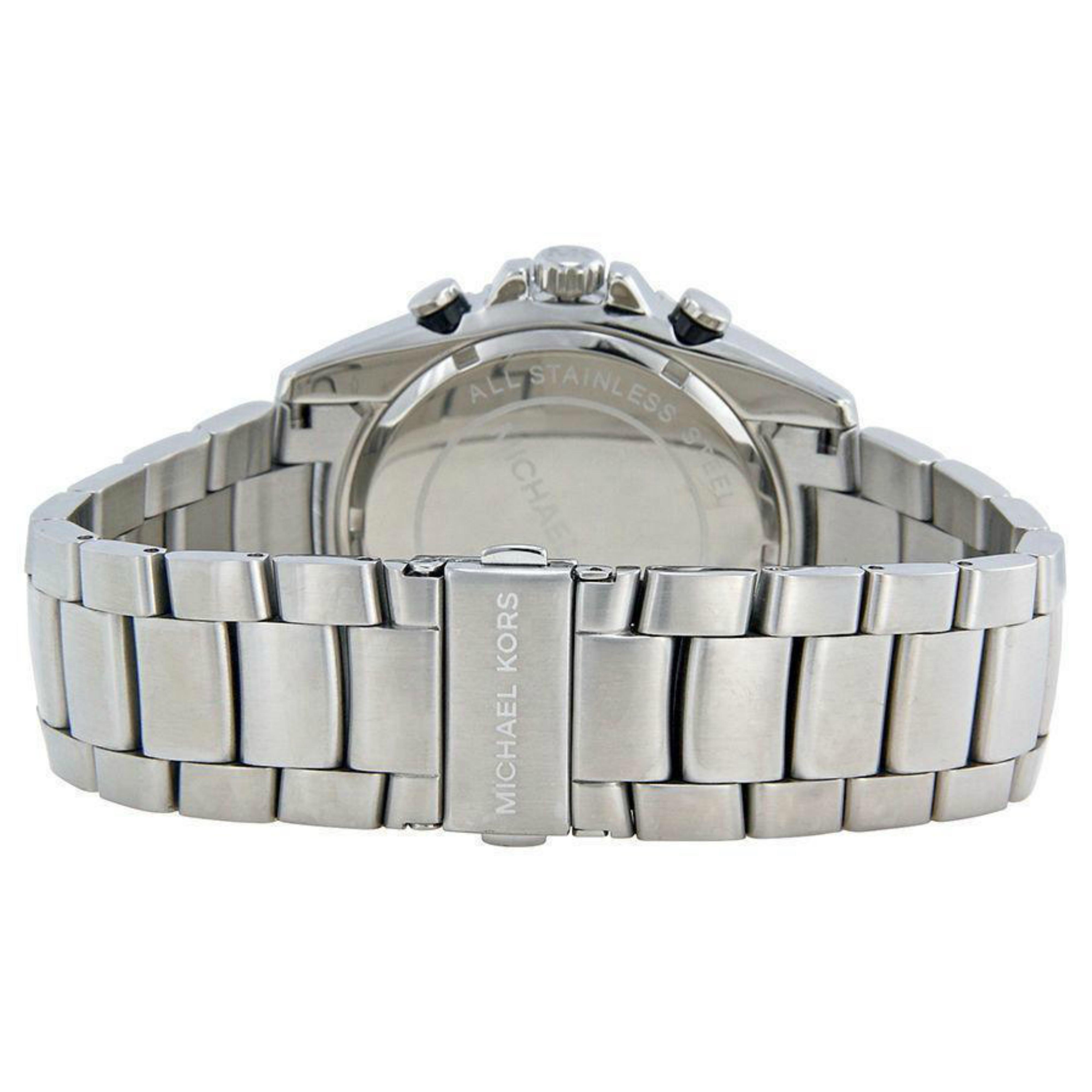 f12a8a74d717 Michael Kors Bradshaw Logo Dial Chronograph Designer Silver Men s Watch  MK8339 Thumbnail 5