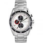 Michael Kors Bradshaw Logo Dial Chronograph Designer Silver Men's Watch MK8339