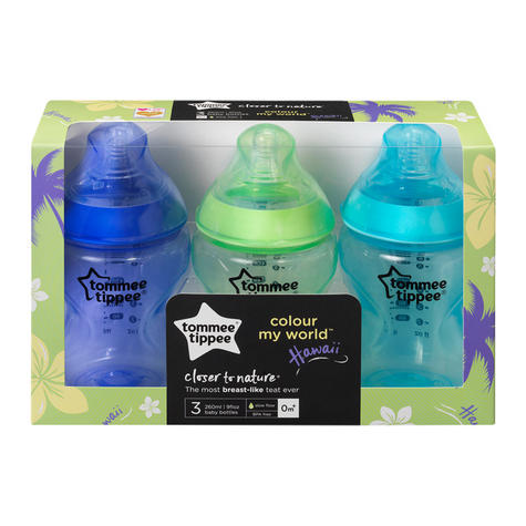 Tommee Tippee Closer to Nature Colour My World Bottle Blue 260ml 3Pk | Anti Colic | New Thumbnail 8