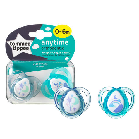 Tommee Tippee Closer to Nature Anytime Soother 0-6m 2Pk |  Dummies  |  Assorted Colours |  New Thumbnail 3