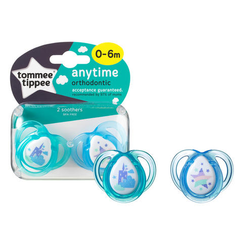 Tommee Tippee Closer to Nature Anytime Soother 0-6m 2Pk |  Dummies  |  Assorted Colours |  New Thumbnail 5