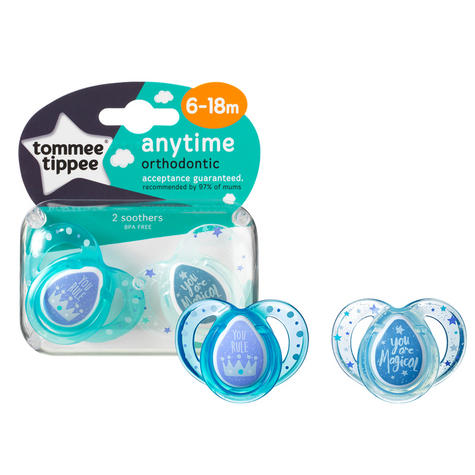 Tommee Tippee Closer to Nature Anytime Soother Pink 6-18m 2Pk | Designs may vary | New Thumbnail 6