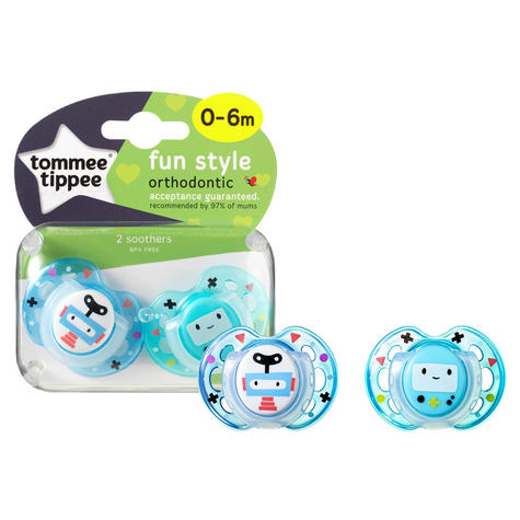 Tommee Tippee Closer to Nature Fun Air Soother 0-6m 2Pk | Dummy | Colours Assorted | New Thumbnail 3