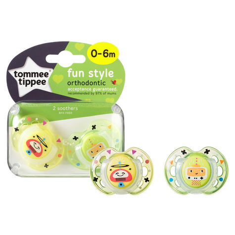 Tommee Tippee Closer to Nature Fun Air Soother 0-6m 2Pk | Dummy | Colours Assorted | New Thumbnail 6