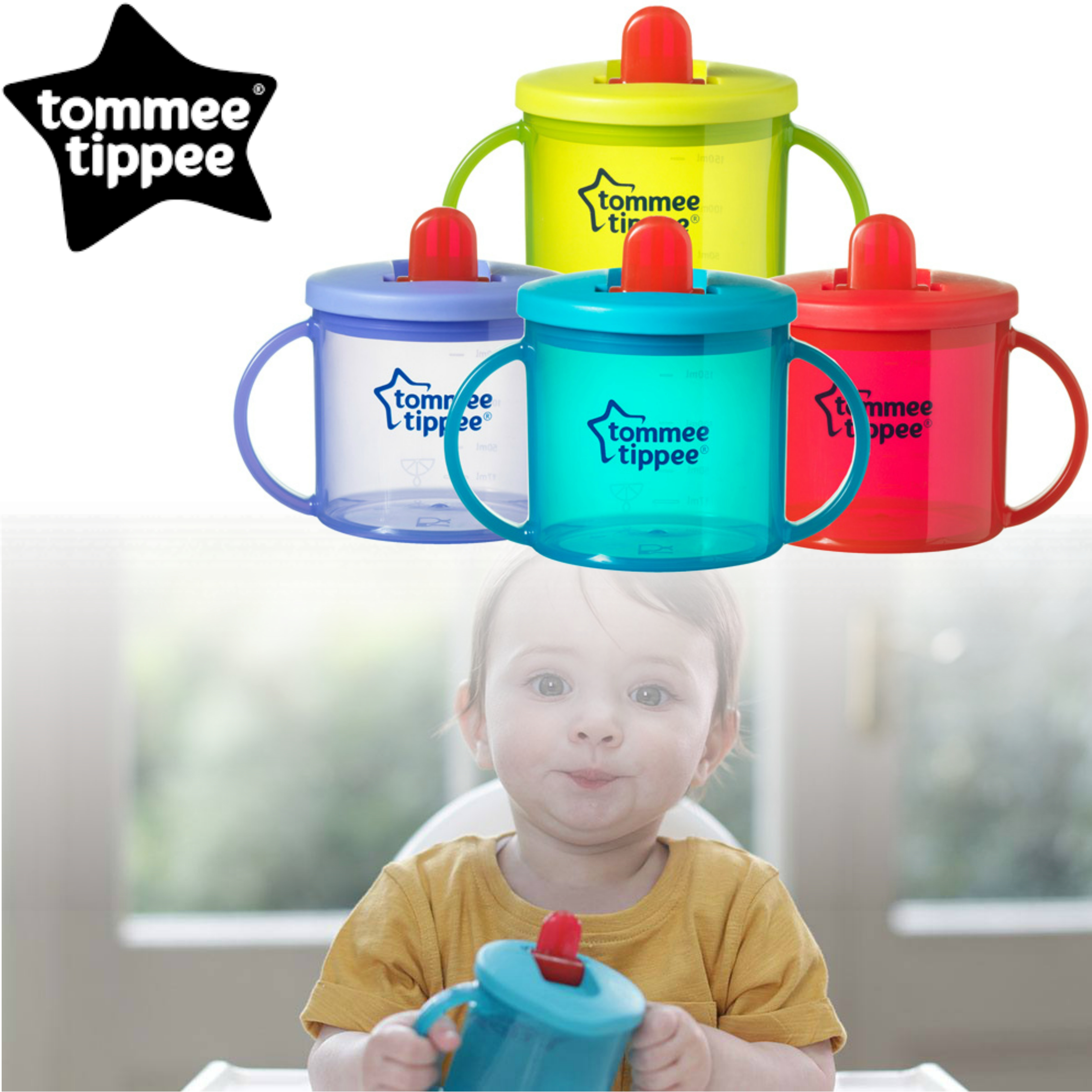 Tommee Tippee Essentials Leak-Proof Spout First Cup | Assorted Colors | BPA Free | 4m+