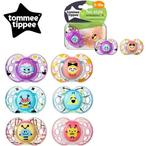 Tommee Tippee Closer to Nature Fun Air Soother 6-18m 2Pk | Design & Colour Assorted | New Thumbnail 1