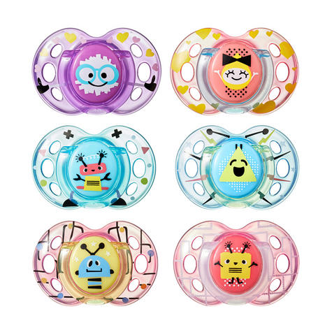 Tommee Tippee Closer to Nature Fun Air Soother 6-18m 2Pk | Design & Colour Assorted | New Thumbnail 2