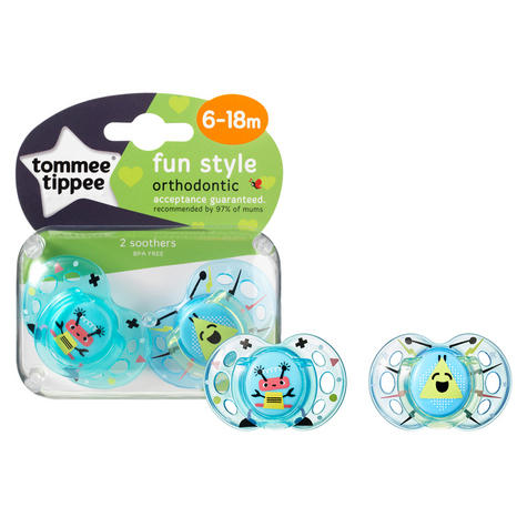 Tommee Tippee Closer to Nature Fun Air Soother 6-18m 2Pk | Design & Colour Assorted | New Thumbnail 6