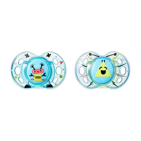 Tommee Tippee Closer to Nature Fun Air Soother 6-18m 2Pk | Design & Colour Assorted | New Thumbnail 7
