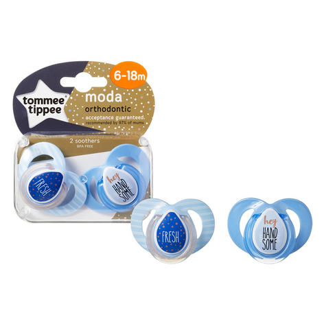 Tommee Tippee Closer to Nature Moda Soother 6-18m 2Pk | Orthodontic Shape | BPA-free | New Thumbnail 5