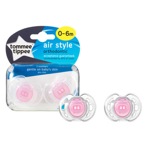 Tommee Tippee Closer to Nature Air Style Soothers 0-6m 2Pk | Classic Dummies | New Thumbnail 3