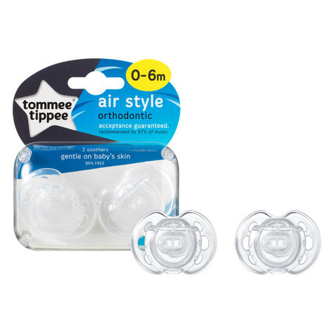 Tommee Tippee Closer to Nature Air Style Soothers 0-6m 2Pk | Classic Dummies | New Thumbnail 6