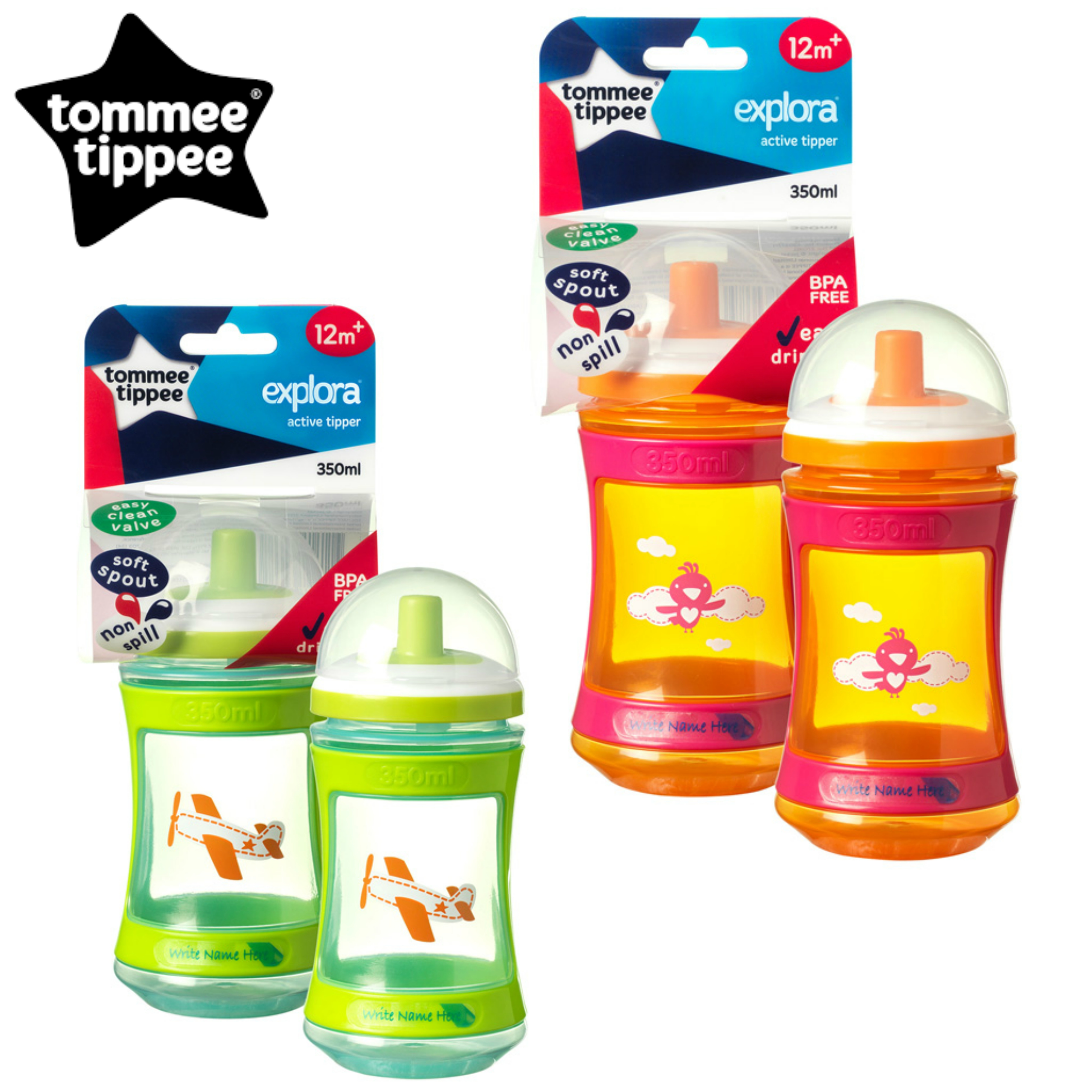 Tommee Tippee Discovera Active Tipper 12m+ | Choice of Design & Colour | 350ml | New
