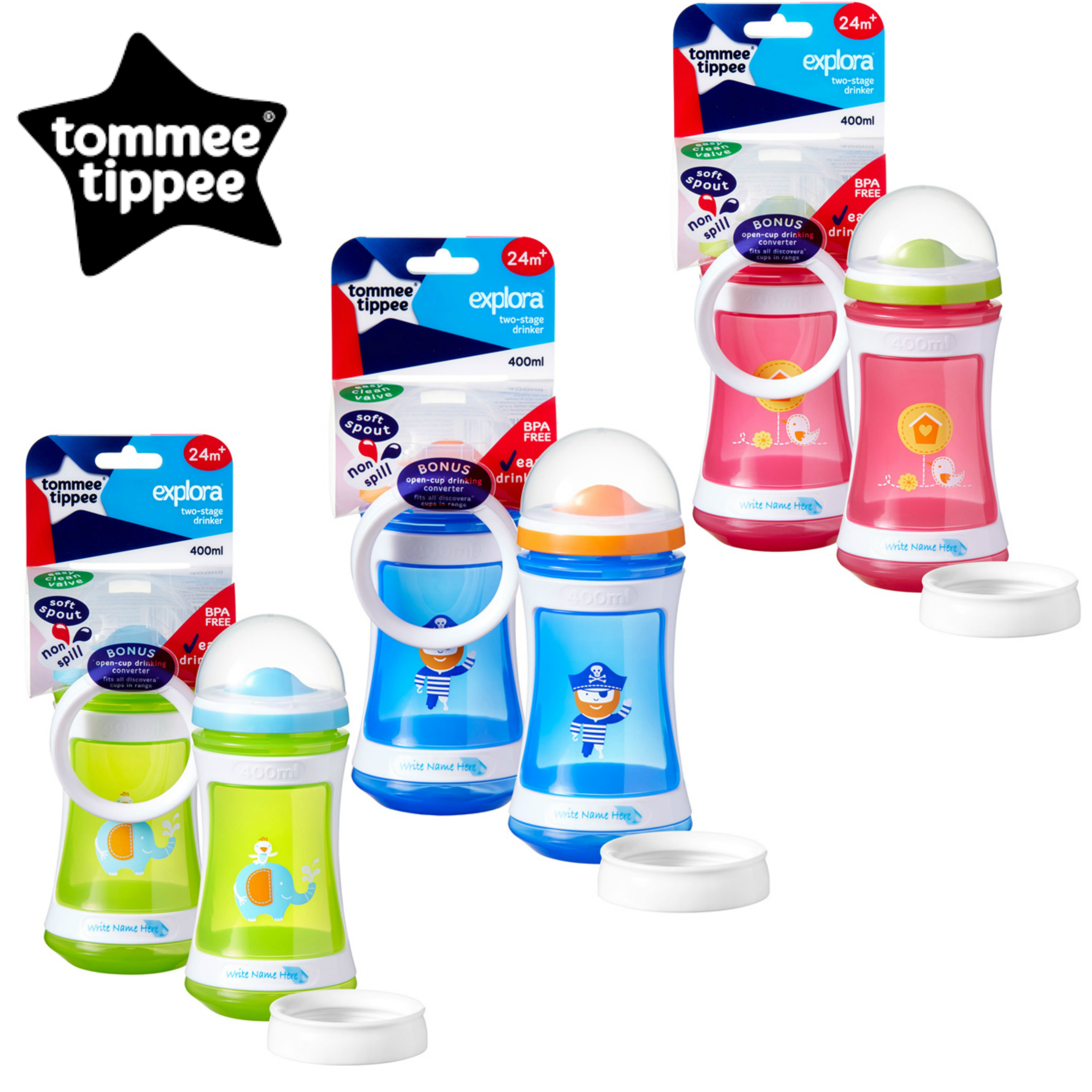 Tommee Tippee Discovera 2 Stage Drinker 24m+ | 400ml | Choose Design & Colour | New