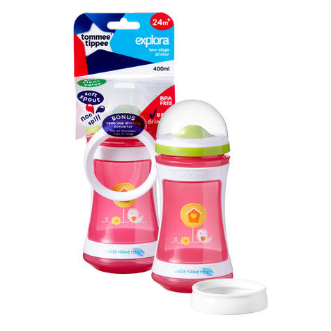 Tommee Tippee Discovera 2 Stage Drinker 24m+ | 400ml | Choose Design & Colour | New Thumbnail 3