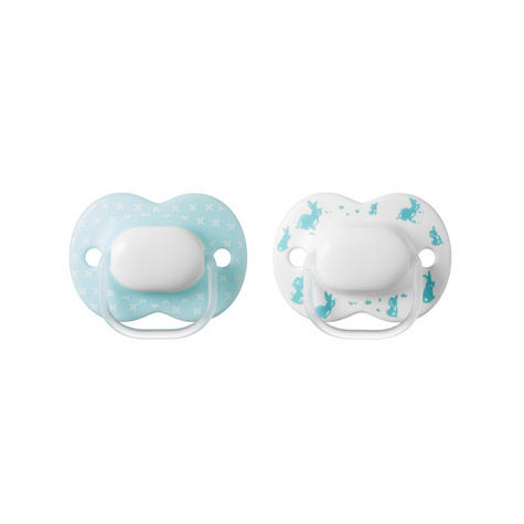 Tommee Tippee Little London Soothers | Silicone Pacifier/Dummies | BPA Free | 0-6m 2Pk | New Thumbnail 3