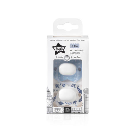 Tommee Tippee Little London Soothers | Silicone Pacifier/Dummies | BPA Free | 0-6m 2Pk | New Thumbnail 7