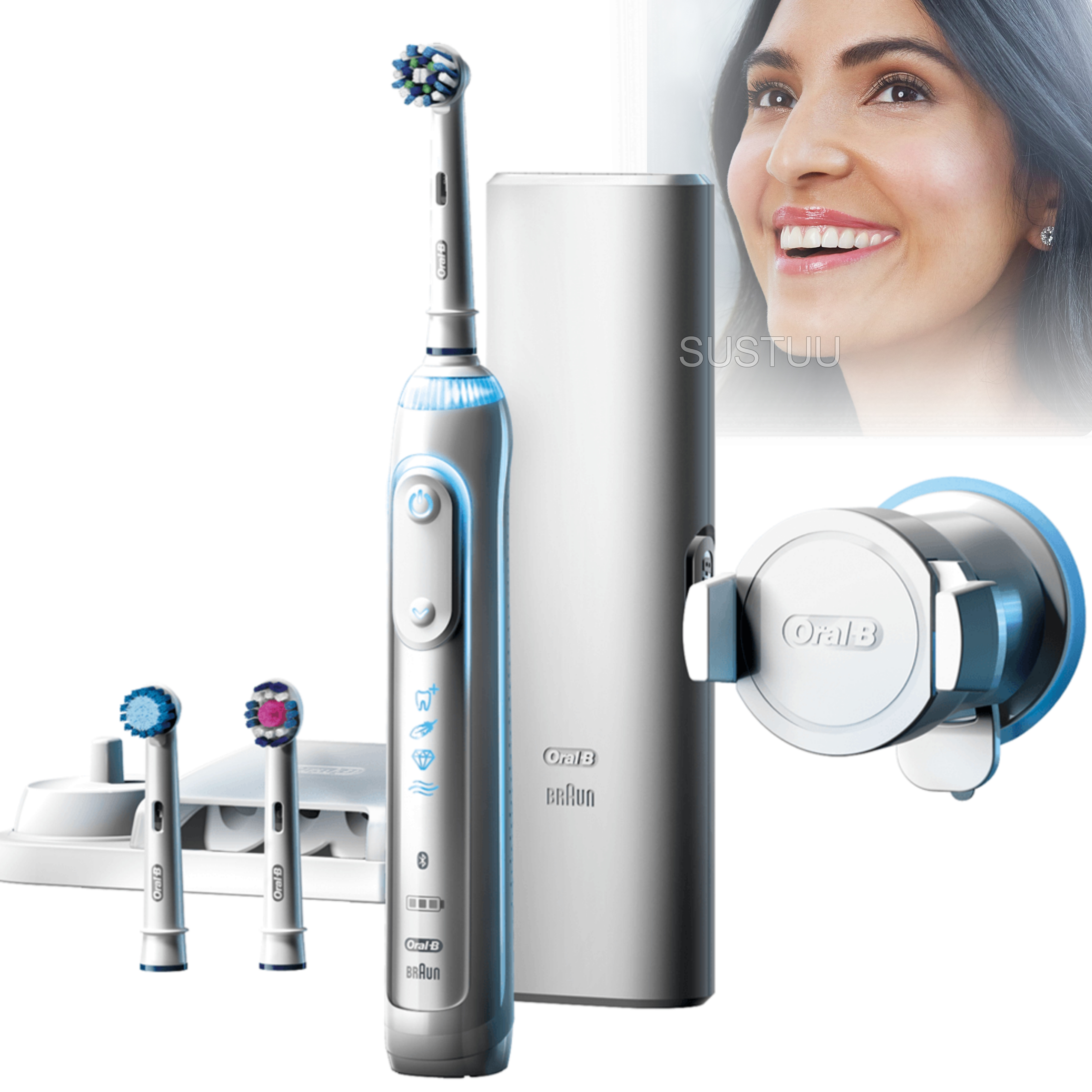 Oral-B Genius 8000 CrossAction Electric Rechargeable Toothbrush | Smart Bluetooth