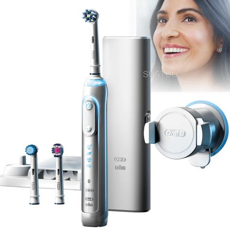 Oral-B Genius 8000 CrossAction Electric Rechargeable Toothbrush | Smart Bluetooth Thumbnail 1