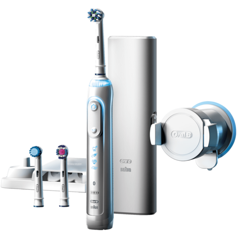 Oral-B Genius 8000 CrossAction Electric Rechargeable Toothbrush | Smart Bluetooth Thumbnail 2