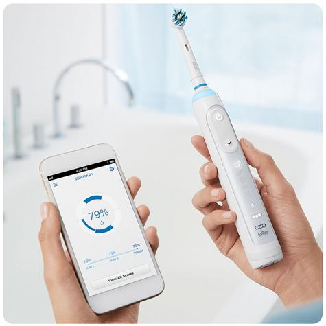 Oral-B Genius 8000 CrossAction Electric Rechargeable Toothbrush | Smart Bluetooth Thumbnail 6