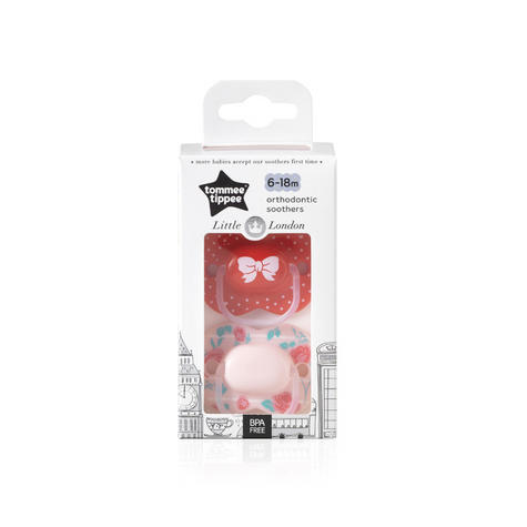 Tommee Tippee Little London Soothers | Silicone Pacifier/Dummies | BPA Free | 6-18m 2Pk | New Thumbnail 8