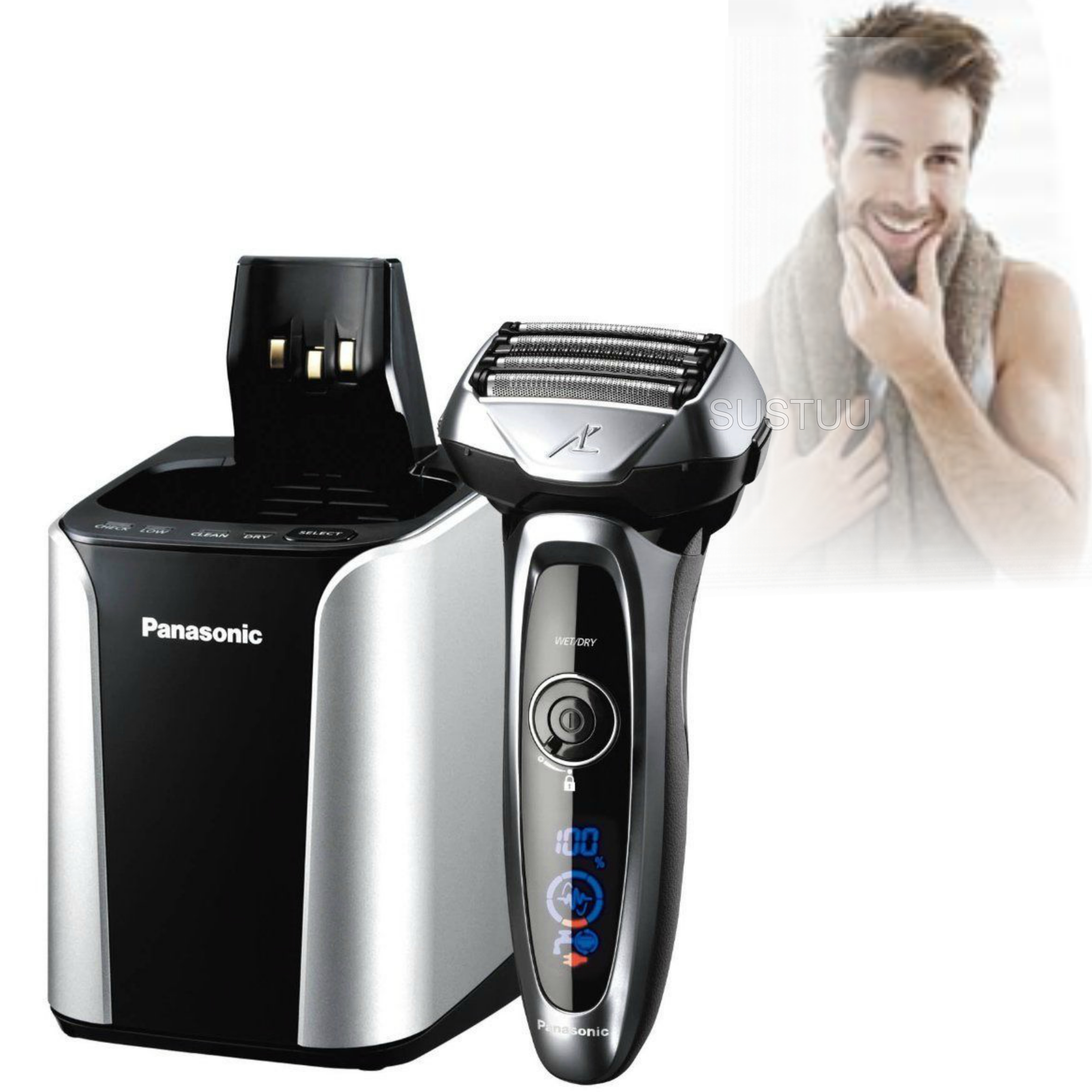 Panasonic Wet & Dry Premium Electric Shaver | Multi-Functional Display | Auto Clean
