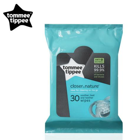 Tommee Tippee Closer to Nature Baby Bottle Teat & Soother Wipes | Pack Of 30Pcs. Thumbnail 1