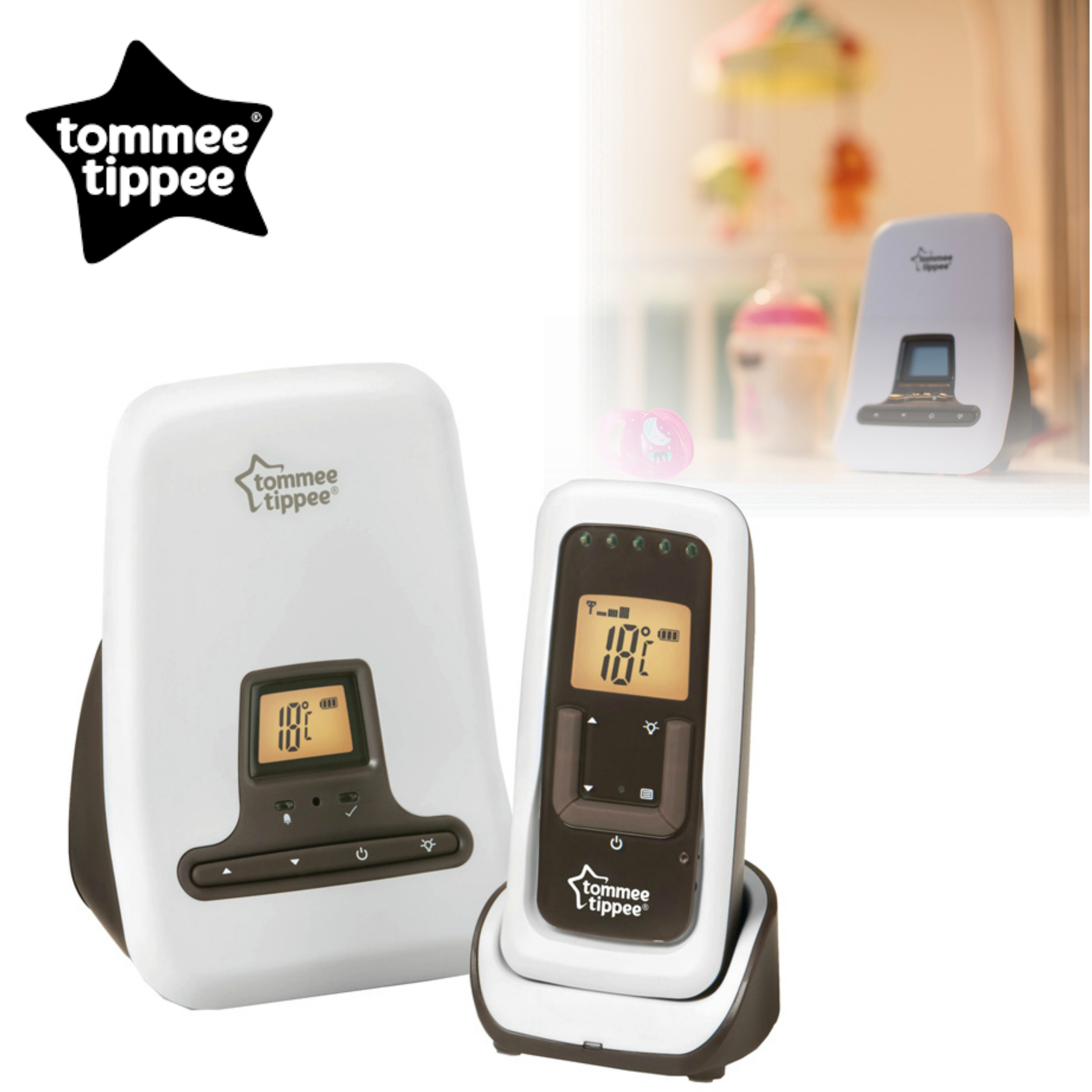 Tommee Tippee Closer to Nature DECT Digital Sound Baby Monitor | Range 300m | New