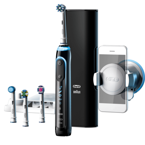 Oral-B Genius Pro 9000 CrossAction Electric Rechargeable Toothbrush | LED SmartRing Thumbnail 2