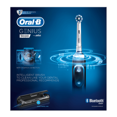 Oral-B Genius Pro 9000 CrossAction Electric Rechargeable Toothbrush | LED SmartRing Thumbnail 8