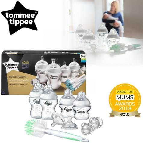 Tommee Tippee Closer to Nature Baby Feeding Bottle Starter Kit | Gift Set | BPA Free Thumbnail 1