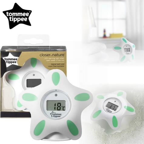 Tommee Tippee Closer to Nature Bath & Room Thermometer | Floats in water | Bath Toy | New Thumbnail 1