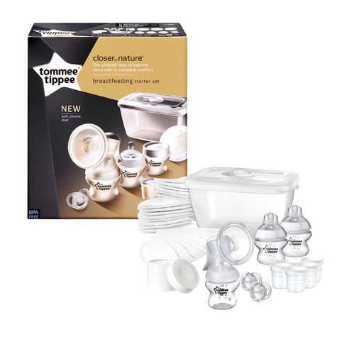 Tommee Tippee Closer to Nature Breast Feeding Kit | Soft Silicon Shell | BPA Free Thumbnail 2