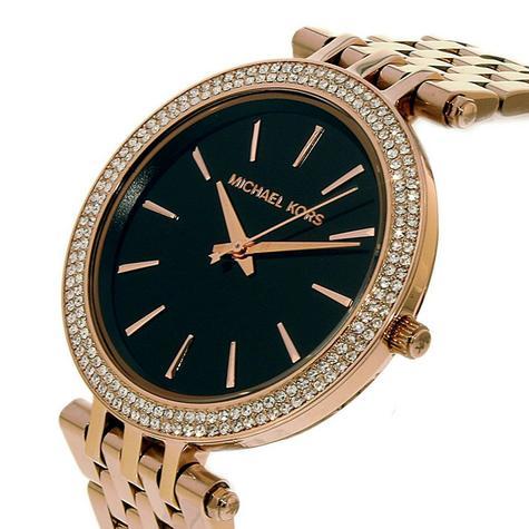 Michael Kors Darci Ladies Watch|Black Dial|Rose Gold Tone|Daimond Accent|MK3402 Thumbnail 2