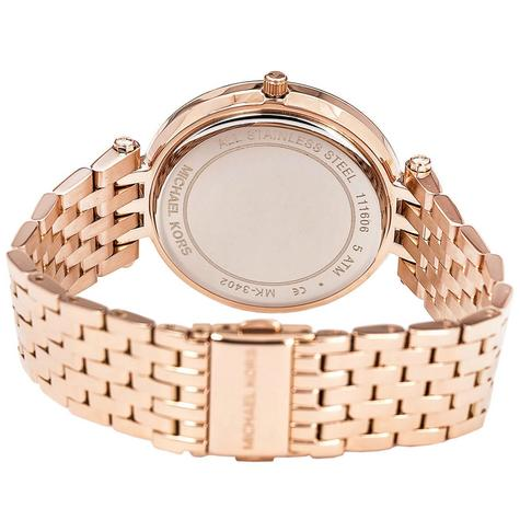 Michael Kors Darci Ladies Watch|Black Dial|Rose Gold Tone|Daimond Accent|MK3402 Thumbnail 4