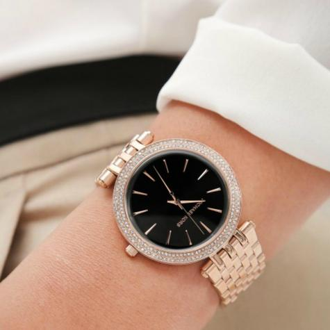 Michael Kors Darci Ladies Watch|Black Dial|Rose Gold Tone|Daimond Accent|MK3402 Thumbnail 6