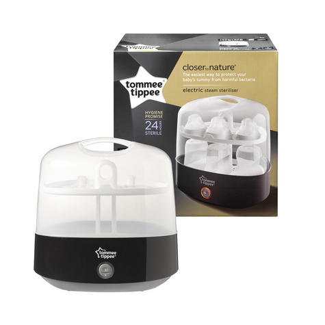 Tommee Tippee Closer to Nature Electric Steriliser With Soother & TeatTong | Black Thumbnail 2