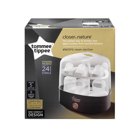 Tommee Tippee Closer to Nature Electric Steriliser With Soother & TeatTong | Black Thumbnail 7