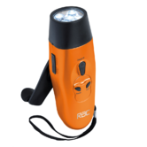 RAC Wind Up Rechargeable LED Torch | FM Radio with Volume Control & Earphones | NEW