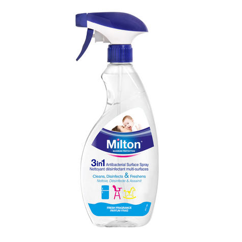 Milton Antibacterial Surface Spray 500ml | Easy To Use On All Nursery Items | Safe Thumbnail 2