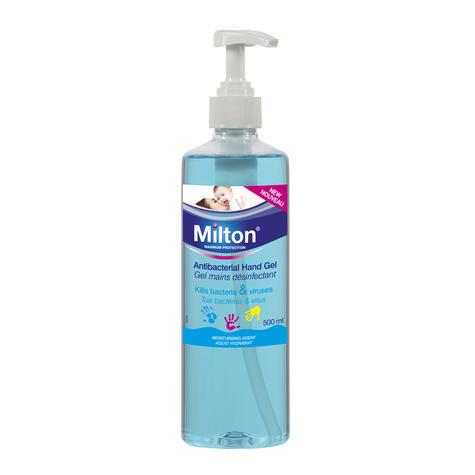 Milton Antibacterial Non Sticky Hand Gel 500ml | Clinically Proven Sterilising | New Thumbnail 2