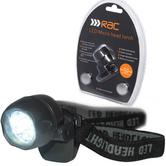 RAC Micro Head Torch | 5 Powerful LED Spotlight | Shock Resistant | Twist on/off Switch
