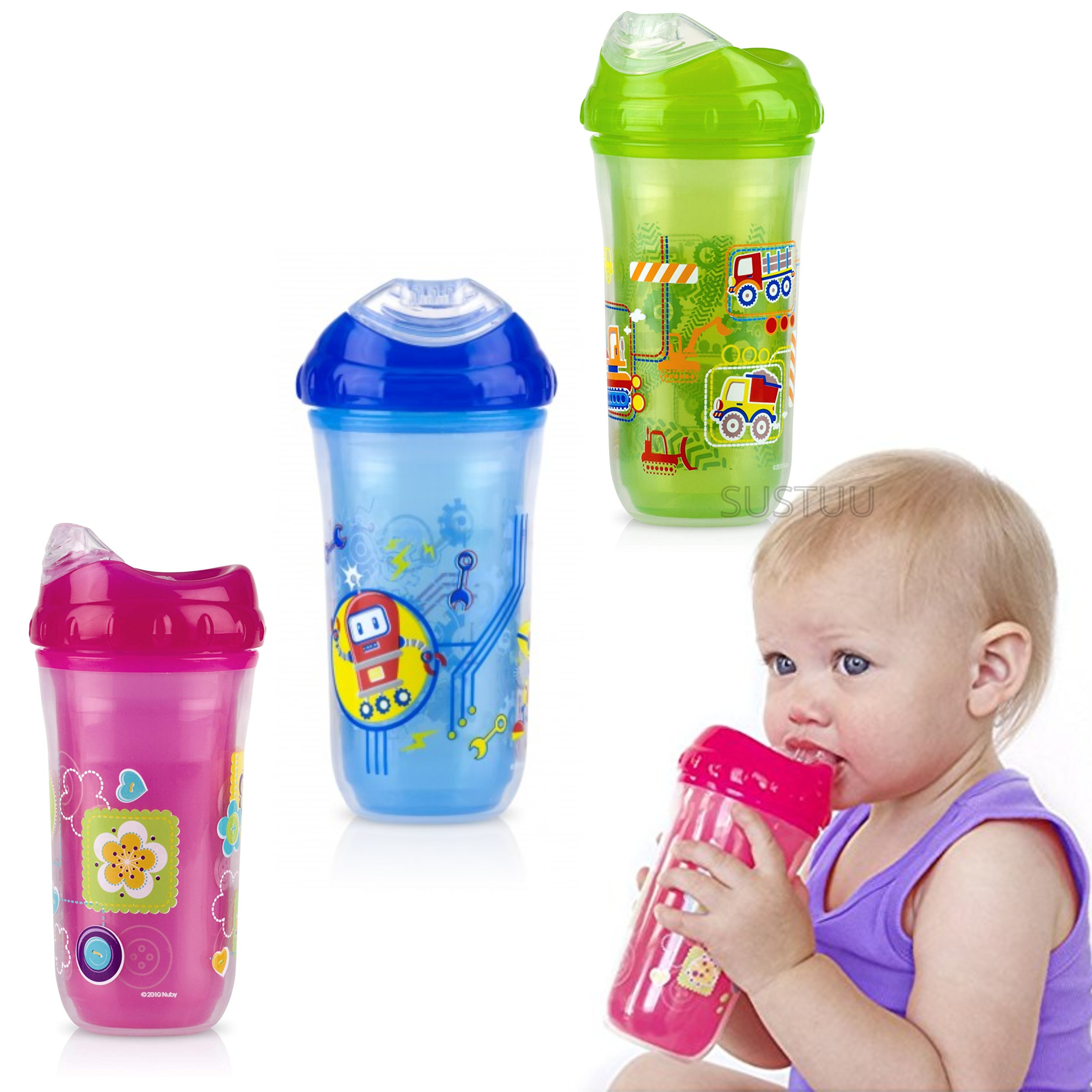 Nuby Insulated Cool Sipper | Toddlers' Cup | Kid's Drinking Container | Beaker | 18m+