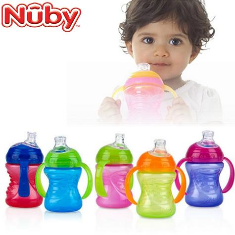 Nuby Sipeez Super Spout Grip N Sip | Silicone Spout | 4-12months | Non-Spill | Soft flex | New Thumbnail 1