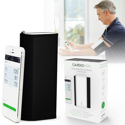 Qardio Arm Wireless Smart Blood Pressure Monitor | Compact & Portable | Multiple Use Thumbnail 1